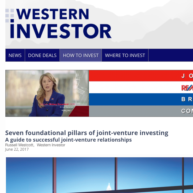 Western Investor Joint Venture Article
